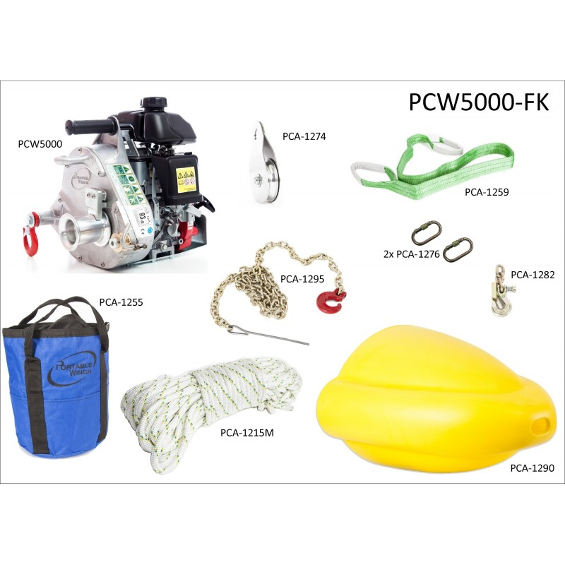 Portatif Vinç PCW5000 Orman Seti