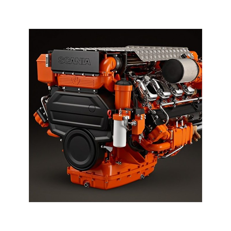 Scania DI16 072M. 662 kW (900 hp) Dizel Deniz Motoru